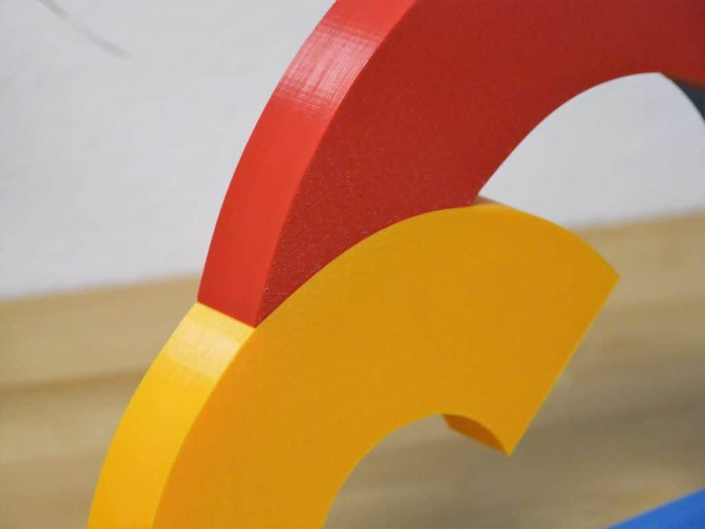 So sieht die Oberflächentextur eines Kennmals aus.