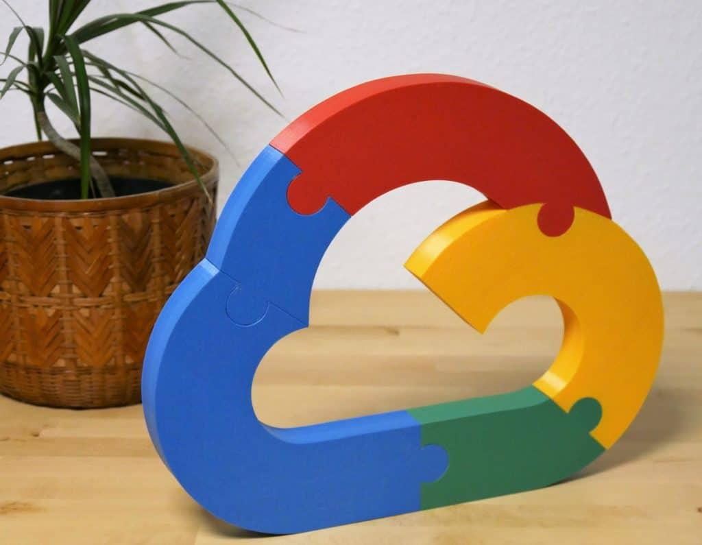 3D-Logo - Kennmal freistehend für Google