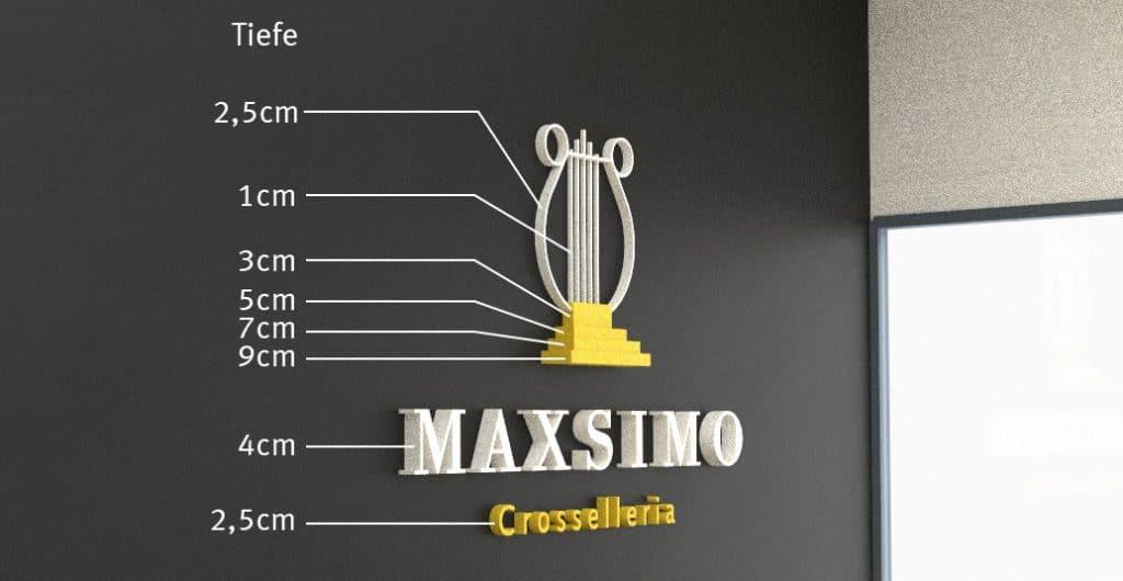 Visualisierung des Kennmals für den Eingangsbereich von Maxsimo
