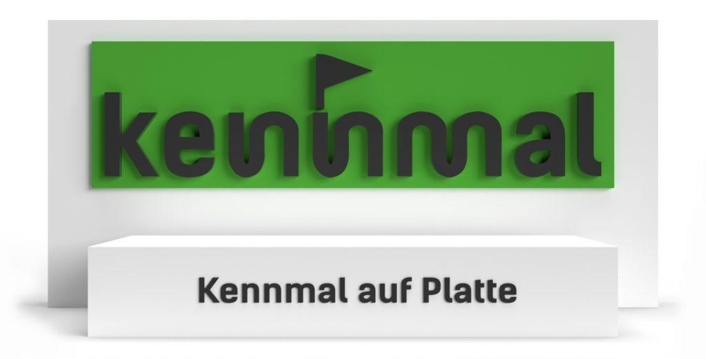 Kennmal auf Platte - Symbolbild für die Montageanleitungen