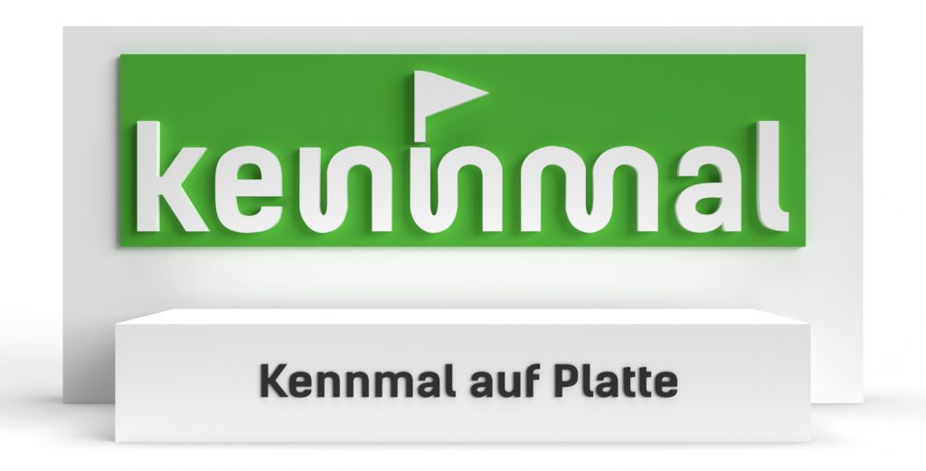 Individuelle 3D-Logos - Kennmal auf Platte (Bauart)