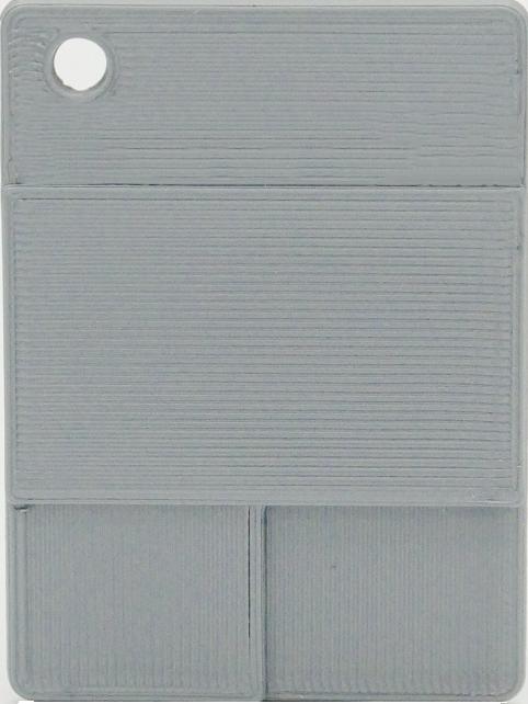Glatte Plakette - Dunkles Silber