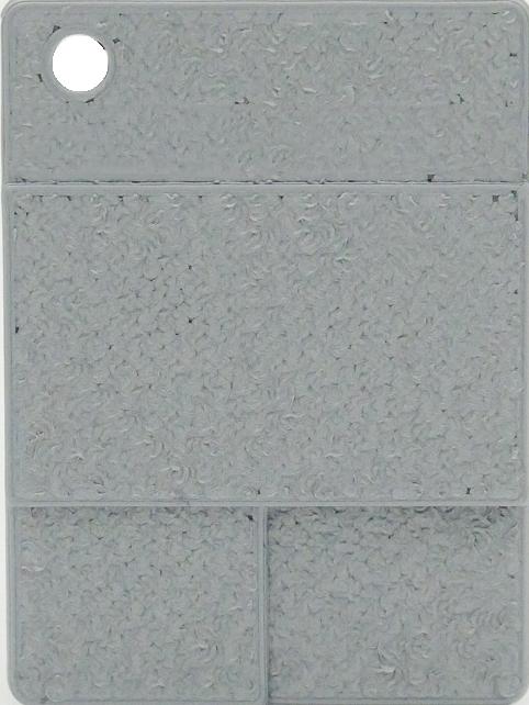 Raue Plakette - Dunkles Silber