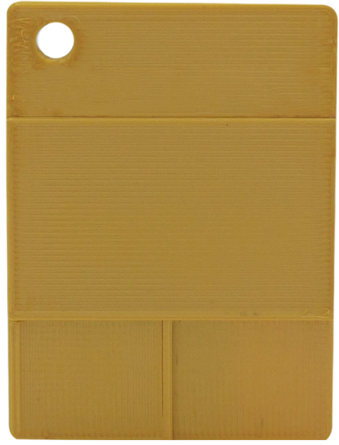Glatte Plakette - Glanzgold
