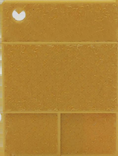 Raue Plakette - Glanzgold