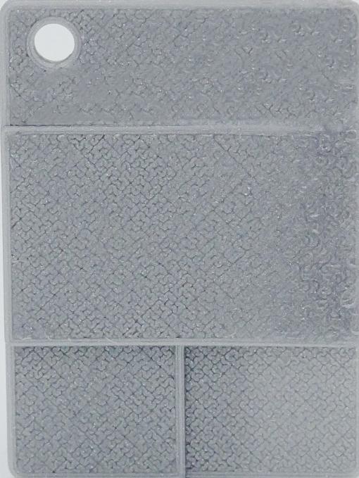 Raue Plakette - Helles Silber