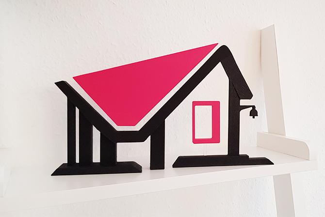 Katharina Wolf - Kennmal auf Acrylstab