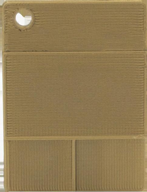 Glatte Plakette - Perlgold