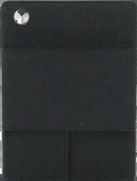Glatte Plakette - Schwarz