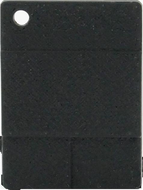 Raue Plakette - Schwarz