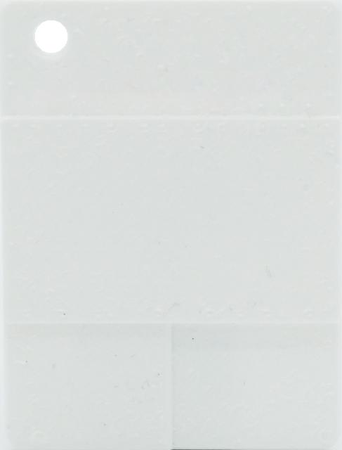 Raue Plakette - Weiß