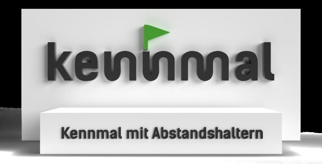 Kennmal mit Abstandshaltern - Symbolbild für die Montageanleitungen